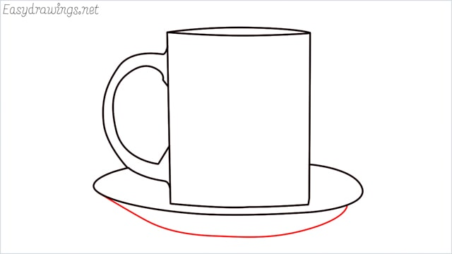 How to draw a mug step (7)