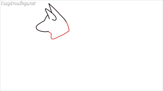 How to draw a my home dog step (3)