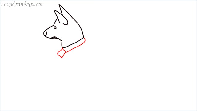 How to draw a my home dog step (5)
