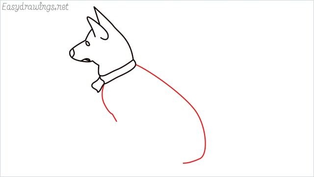 How to draw a my home dog step (6)