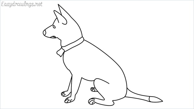 How to draw a my home dog step by step