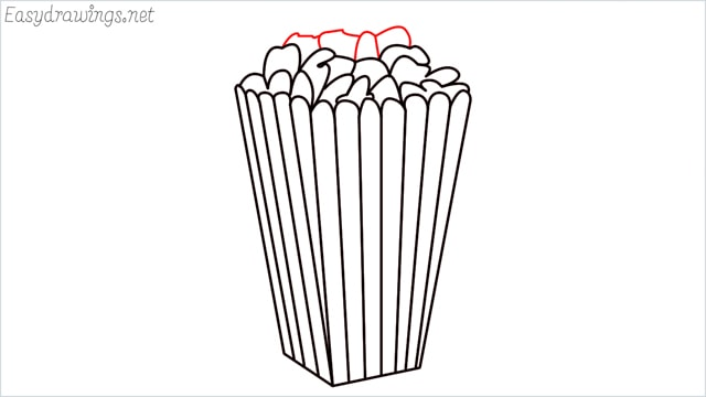 How to draw a popcorn step (10)