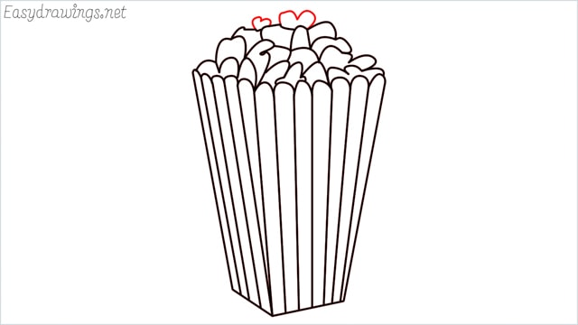 How to draw a popcorn step (11)