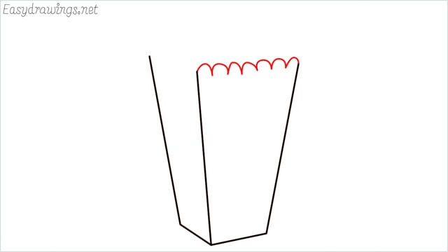 How to draw a popcorn step (4)