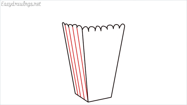 How to draw a popcorn step (6)