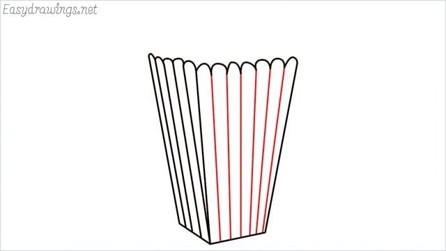 How to draw a popcorn step (7)