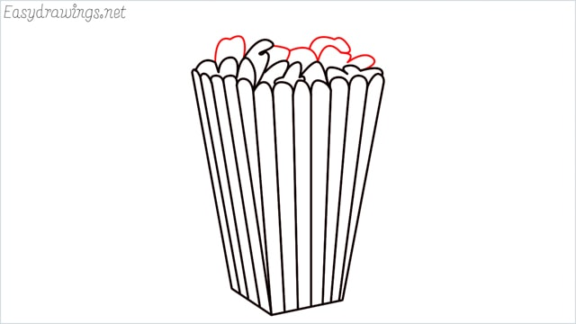 How to draw a popcorn step (9)