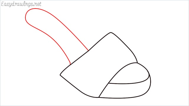 How to draw a sandals step (4)
