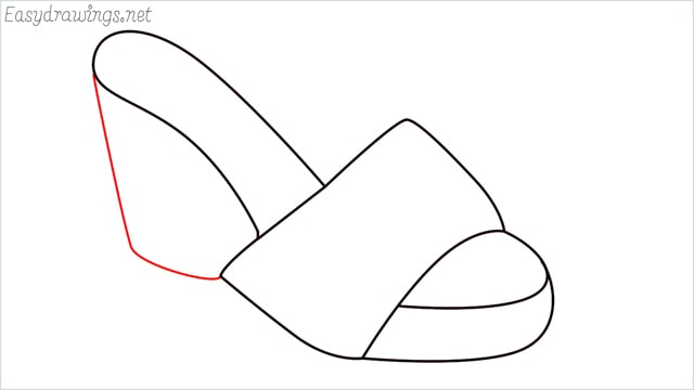 How to draw a sandals step (5)