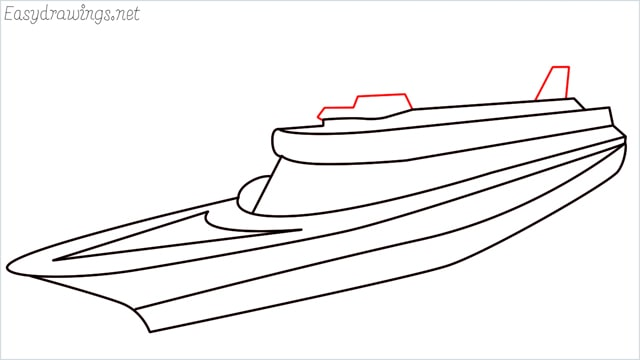 How to draw a ship step (10)