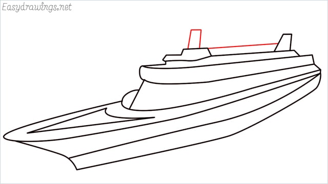 How to draw a ship step (11)