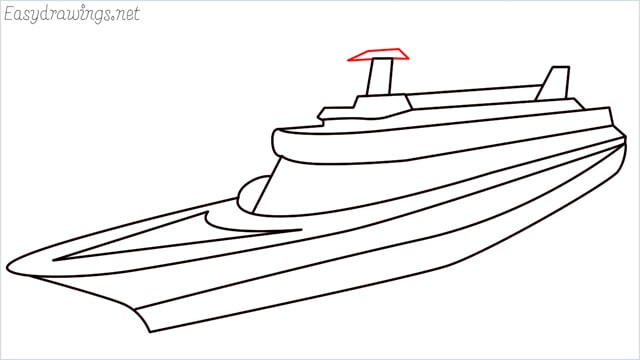 How to draw a ship step (12)