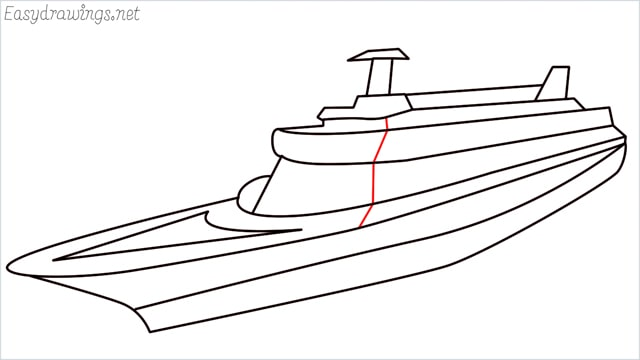 How to draw a ship step (13)