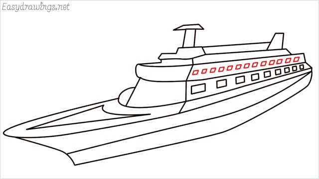 How to draw a ship step (15)