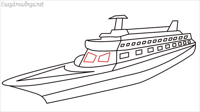 How to draw a ship step (16)