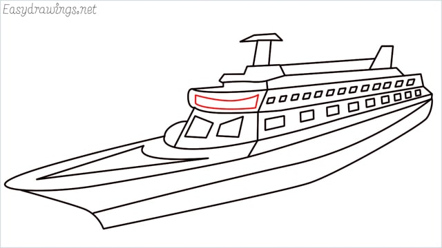 How to draw a ship step (17)