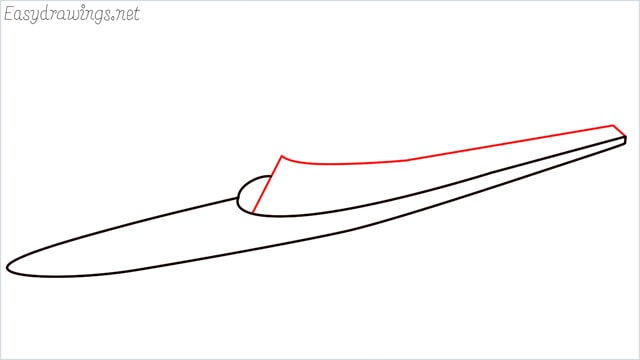 How to draw a ship step (3)