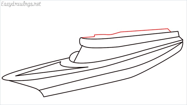 How to draw a ship step (9)