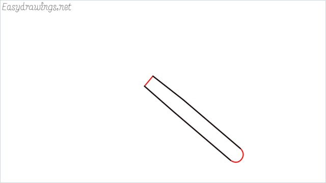 How to draw a spoon step (2)