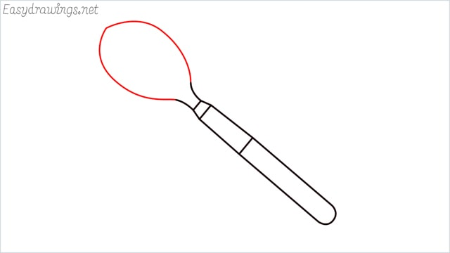 How to draw a spoon step (5)