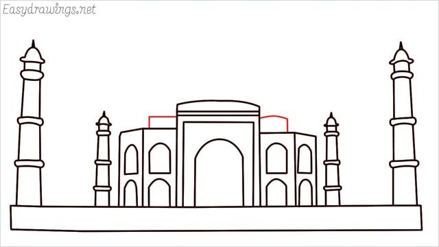 How to draw a taj mahal step (10)