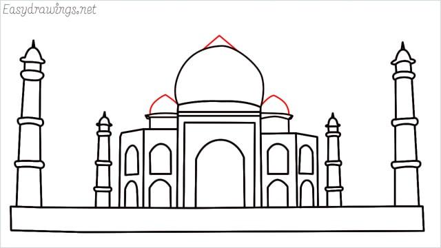 How to draw a taj mahal step (12)