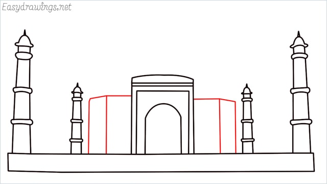How to draw a taj mahal step (8)