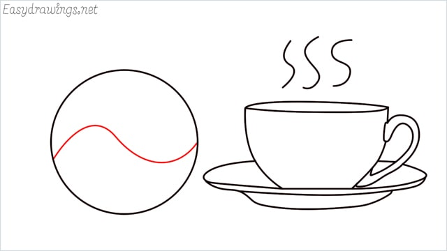 How to draw a teacup step (10)