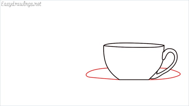 How to draw a teacup step (5)