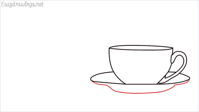 How to draw a teacup step (6)