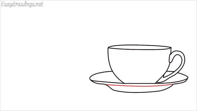 How to draw a teacup step (7)