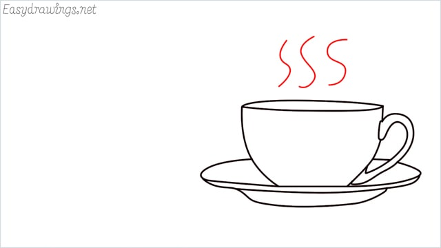 How to draw a teacup step (8)