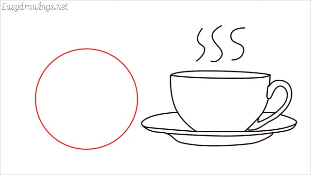 How to draw a teacup step (9)