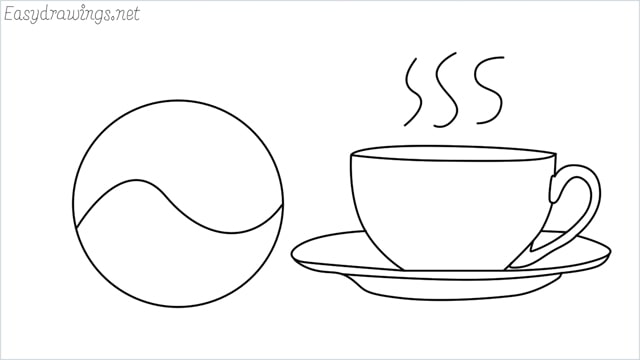 How to draw a teacup step by step