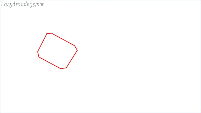 How to draw a thor hammer step (1)