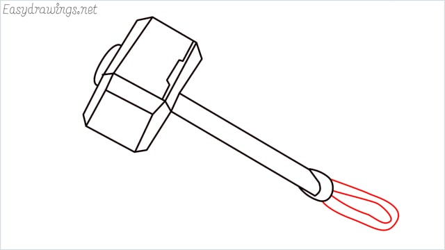 How to draw a thor hammer step (10)