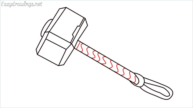 How to draw a thor hammer step (11)