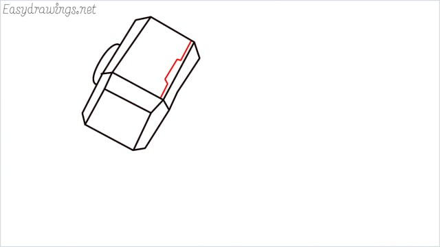 How to draw a thor hammer step (7)