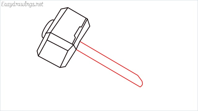 How to draw a thor hammer step (8)