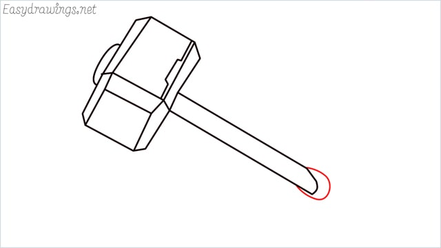 How to draw a thor hammer step (9)