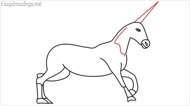 How to draw a unicorn step (15)