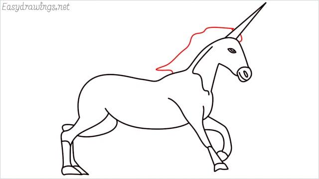 How to draw a unicorn step (16)
