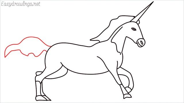 How to draw a unicorn step (17)