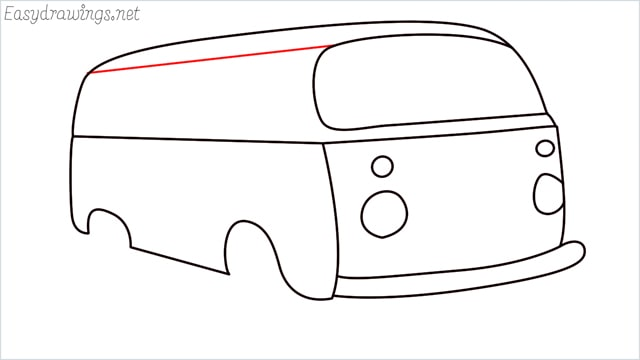 How to draw a van step (10)