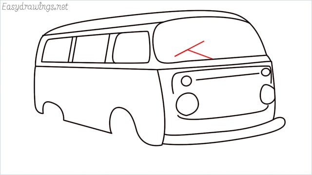 How to draw a van step (15)