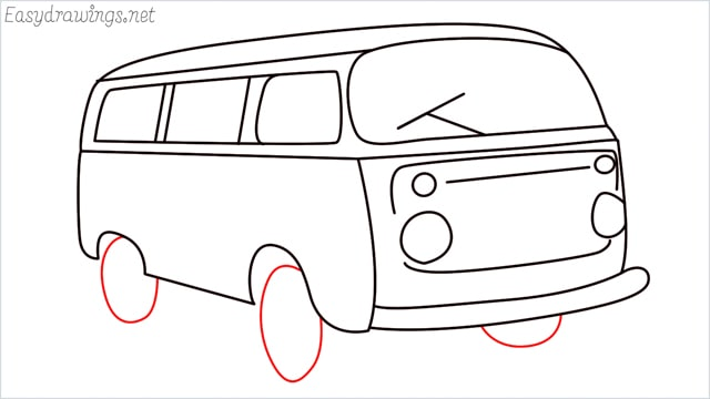 How to draw a van step (16)