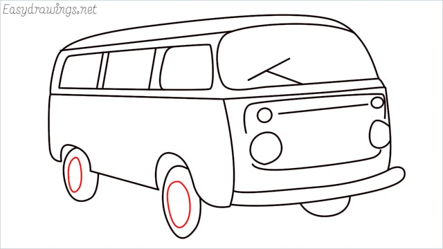 How to draw a van step (17)