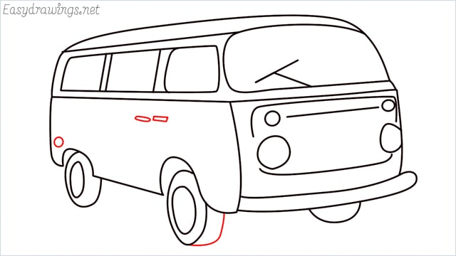 How to draw a van step (18)