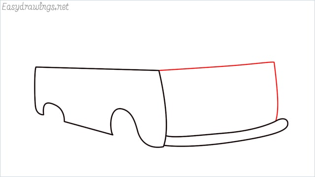 How to draw a van step (5)