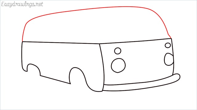 How to draw a van step (8)